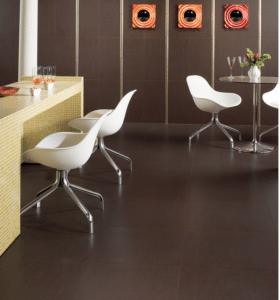 American Olean mosaic flooring in cafe