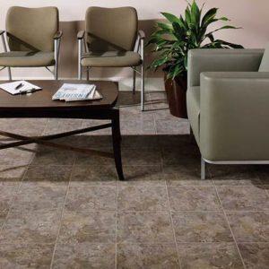 American Orlean ceramic flooring in reception area