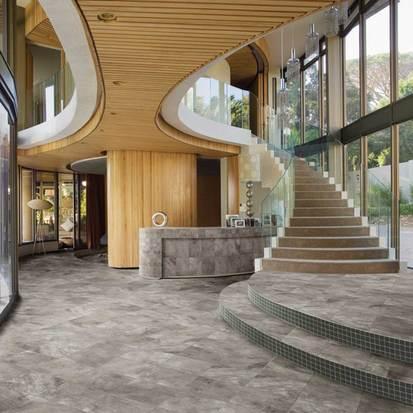 American Orlean Porcelain Flooring in lobby