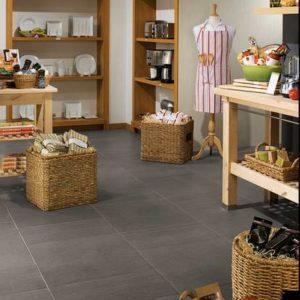 American Orlean porcelain flooring in retail space