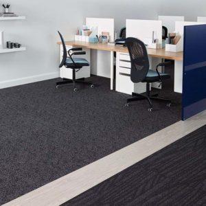 Amtico carpet flooring in office
