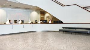 Forbo LVT flooring in office lobby