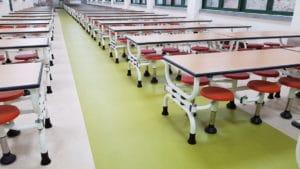 Forbo marmoleum flooring in school