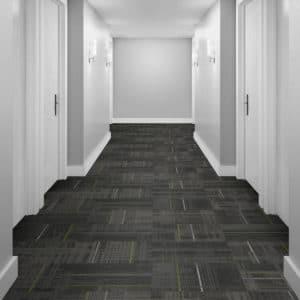 Interface LVT flooring in hotel corridor