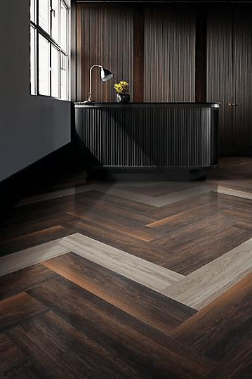 Interface LVT flooring in lobby