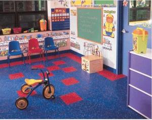Johnsonite rubber flooring in classroom