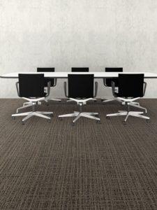 Mannington broadloom flooring in conference room