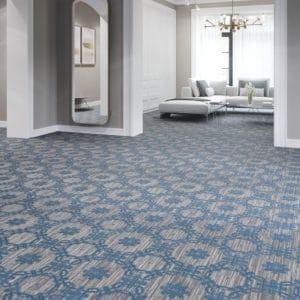 Mannington broadloom flooring in hotel