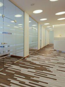 Mannington LVT flooring in doctor's office