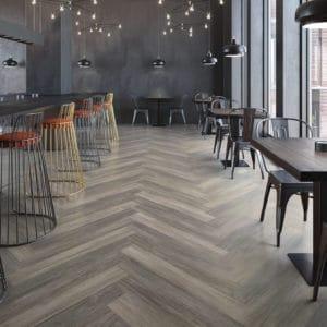 Mannington LVT flooring in restaurant