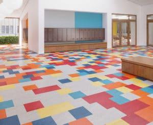 Mannington LVT flooring in school