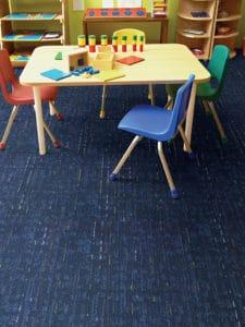 Mannington modular flooring in classroom