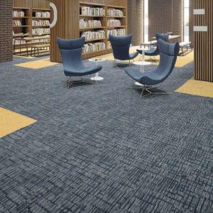 Mannington modular flooring in library