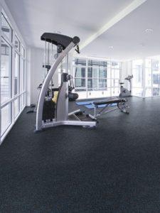 Mannington rubber flooring in gym