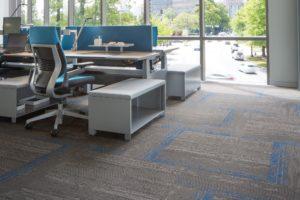 Mohawk carpet flooring in office