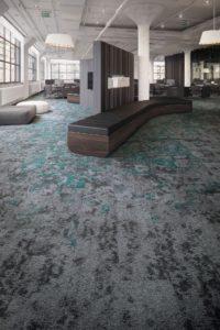 Mohawk carpet tile flooring in office