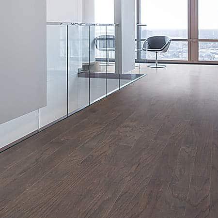 Mohawk hardwood flooring in office