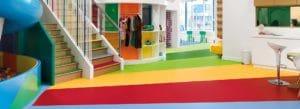 Nora rubber flooring in school