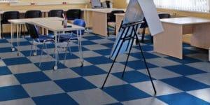 Roppe rubber flooring in school