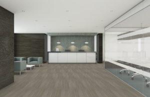 Shaw LVT flooring in lobby