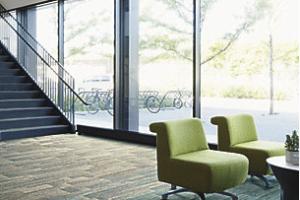 Interface carpet tile flooring in lobby